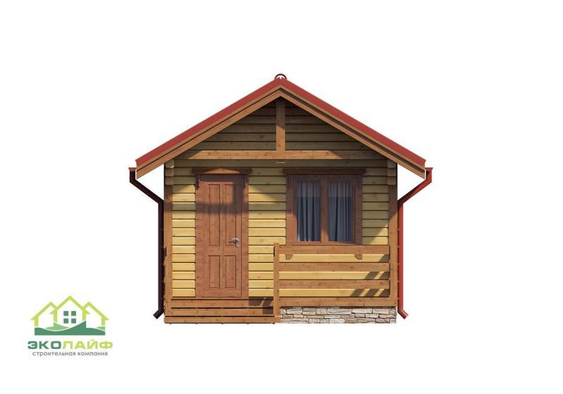 Проект деревянной бани до 25 кв.м.
