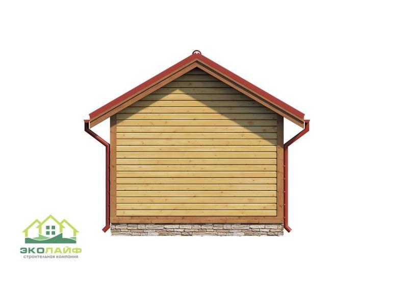 Проект деревянной баньки до 25 кв.м.