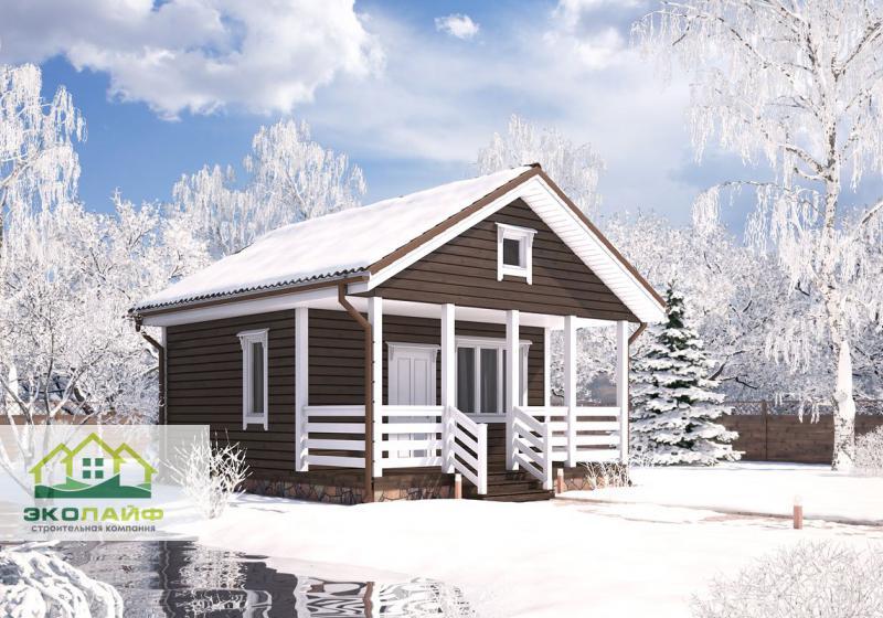 Проект каркасного дома до 40 кв.м.