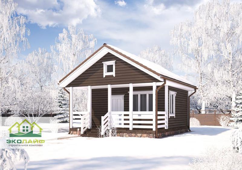 Проект каркасного дома от 35 кв.м.