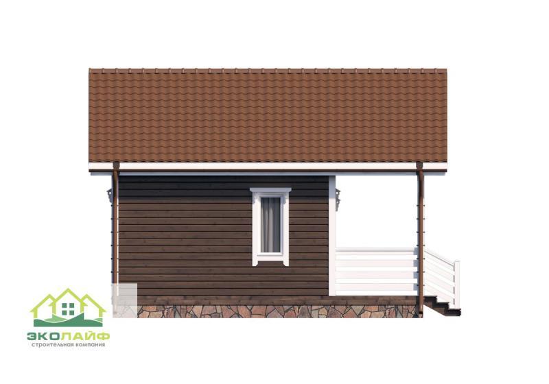 Проект дома по каркасной технологии 39 кв.м.