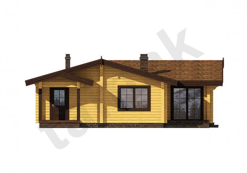 Проект дома из бруса 134 кв.м