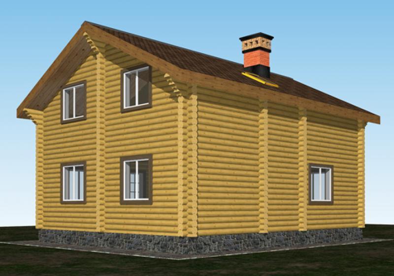 Проект дома из бревна до 140 кв.м.
