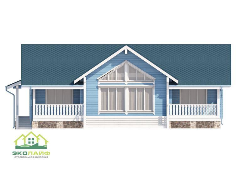 Проект одноэтажного дома из бруса до 170 кв.м.