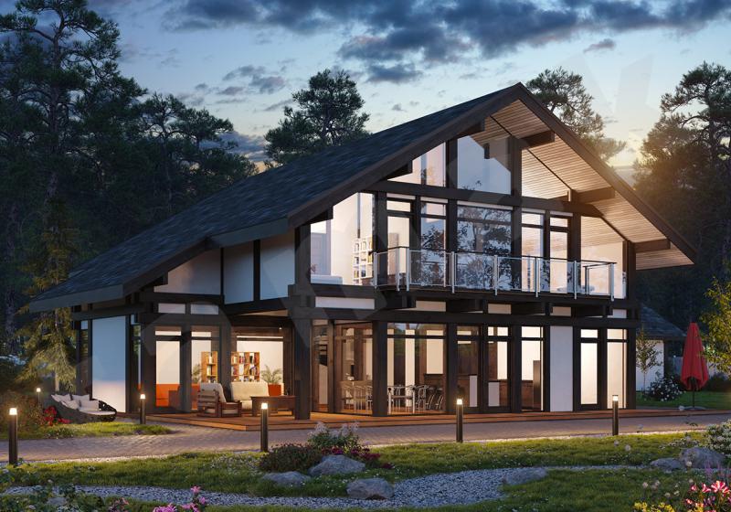 Проект дорогого дома до 300 кв.м.