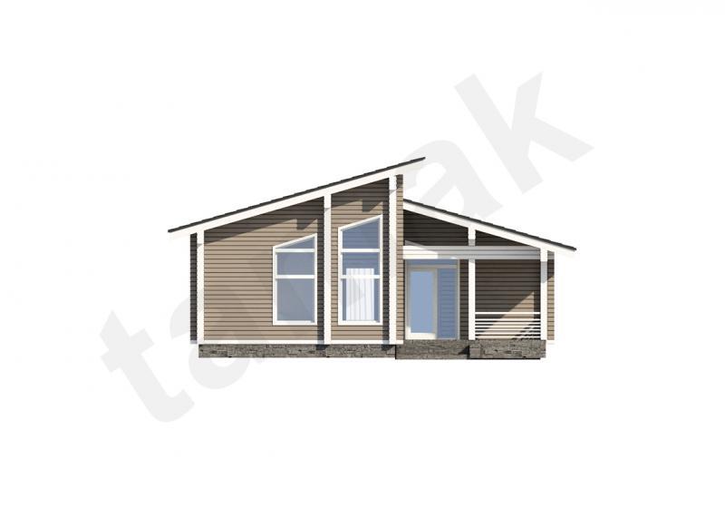 Проект дома из бруса 163 кв.м
