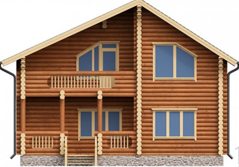 Проект дома из бревна от 170 кв.м.