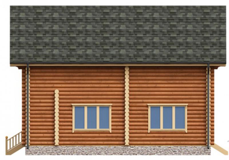 Проект дома из бревна до 175 кв.м.
