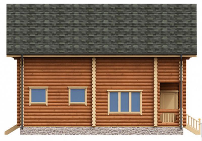 Проект дома из бревна до 180 кв.м.