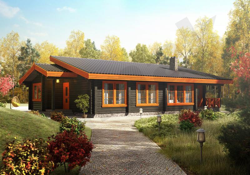 Проект дома из бруса 129 кв.м