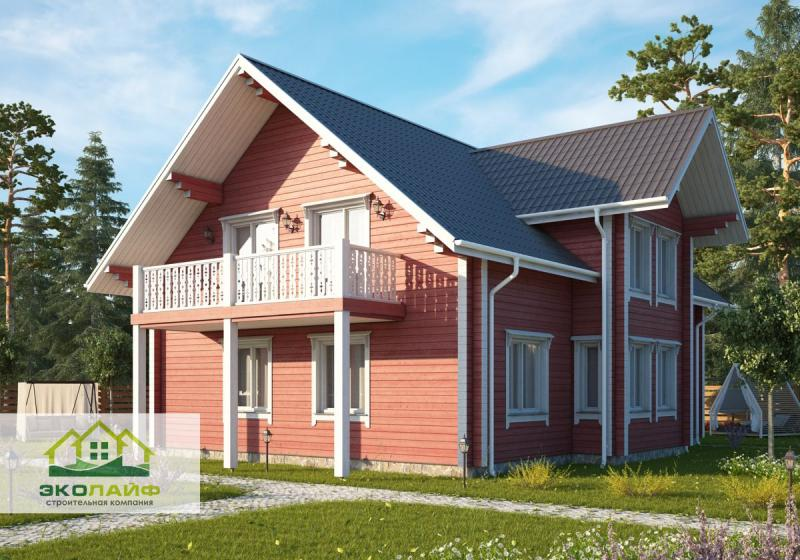 Проект дома из бруса 200 кв.м