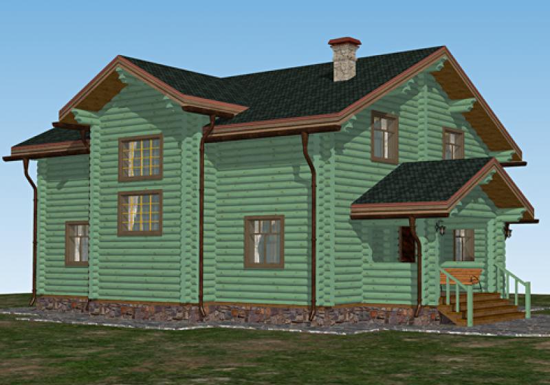 Проект дома из бревна до 240 кв.м.