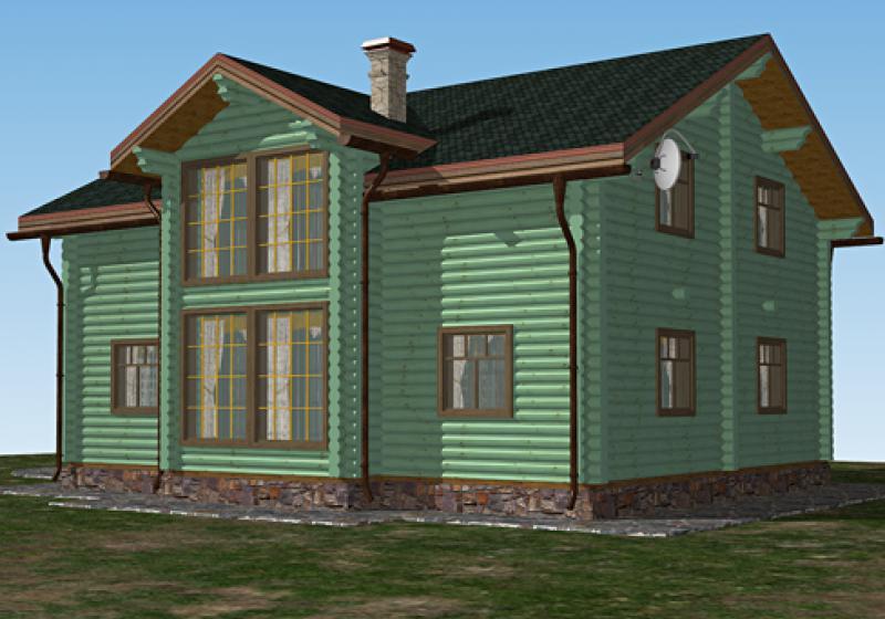 Проект дома из бревна от 235 кв.м.