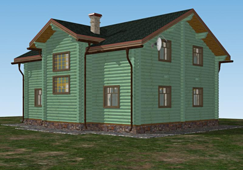 Проект дома из бревна до 245 кв.м.