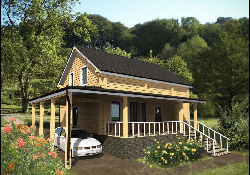 Проект дома из бруса 158 кв.м.