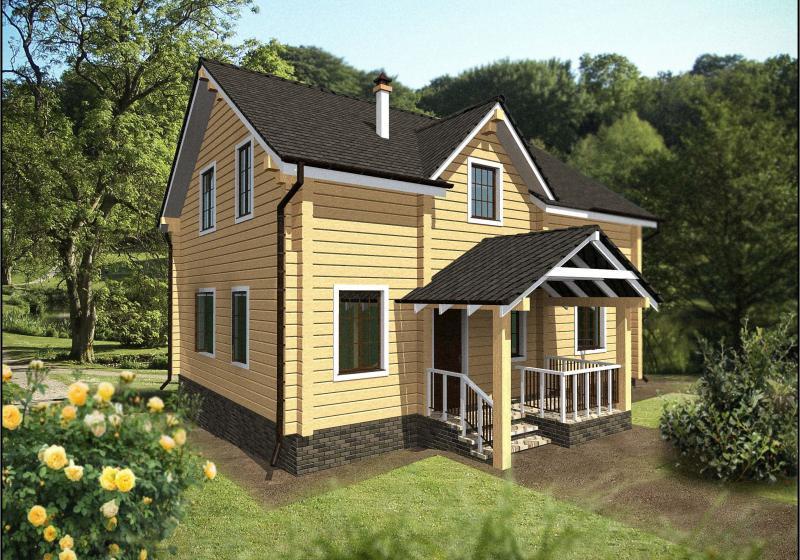 Проект дома из бруса от 150 кв.м.