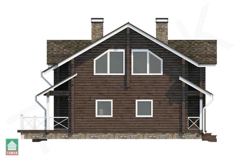 Проект дома из клееного бруса 192 кв.м.