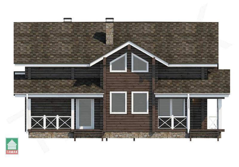 Проект дома из клееного бруса до 200 кв.м.