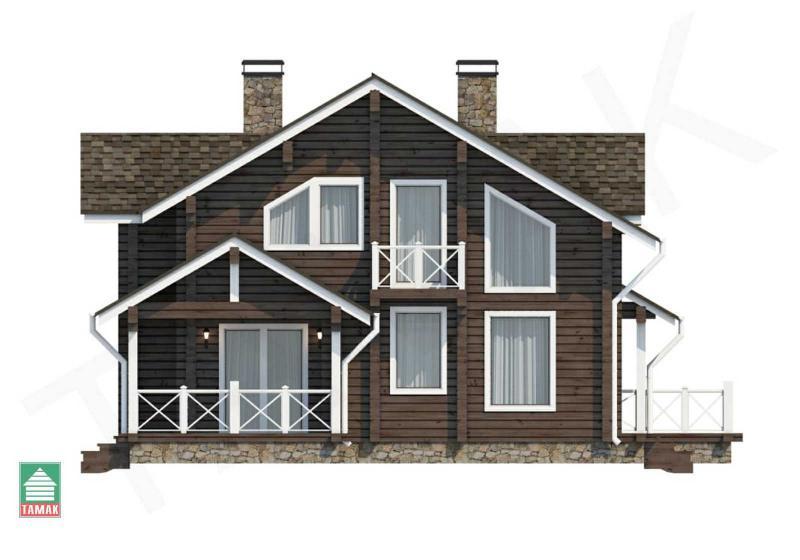 Проект дома из клееного бруса до 195 кв.м.