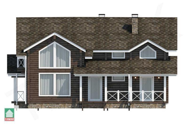 Проект дома из клееного бруса до 192 кв.м.