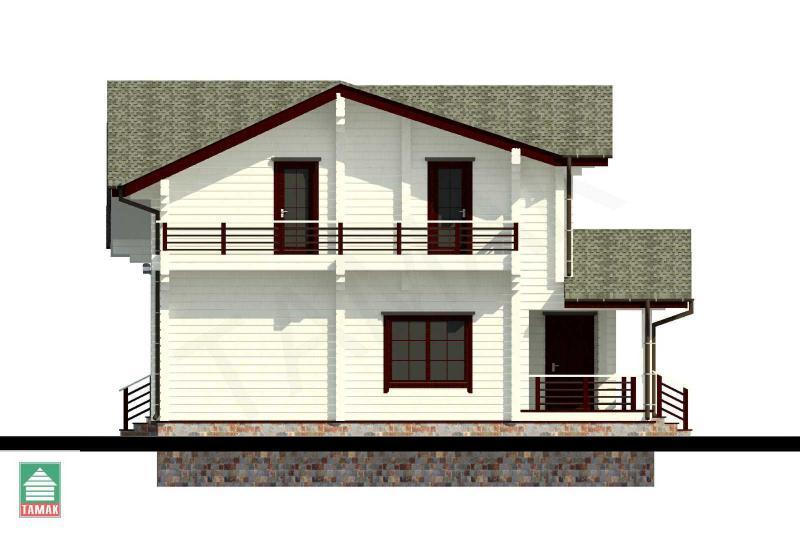 Проект дома из клееного бруса от 170 кв.м.