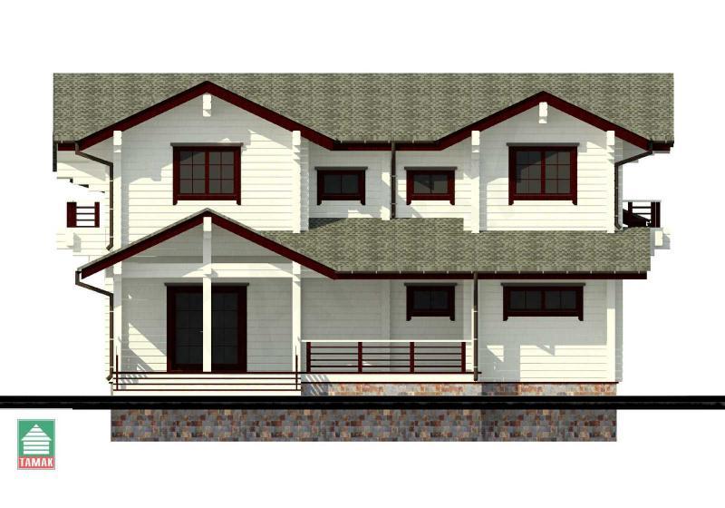 Проект дома из клееного бруса до 175 кв.м.