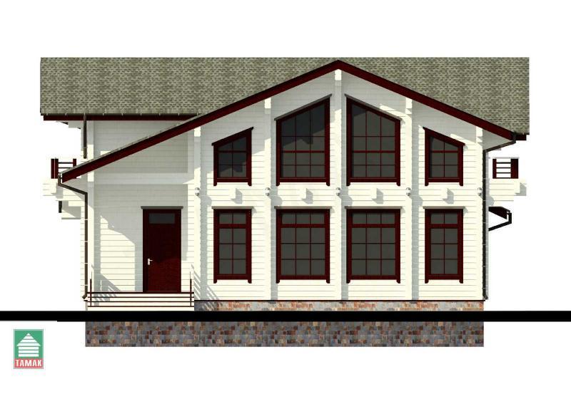 Проект дома из клееного бруса 172 кв.м.