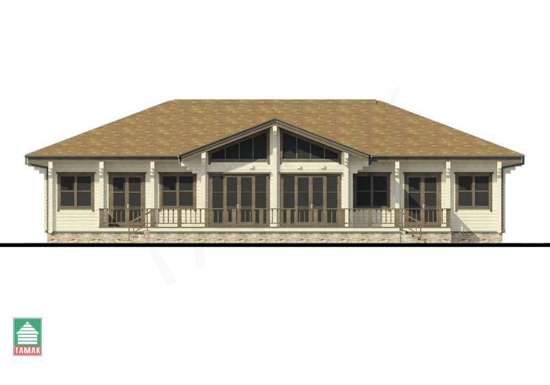 Проект дома из клееного бруса от 155 кв.м.