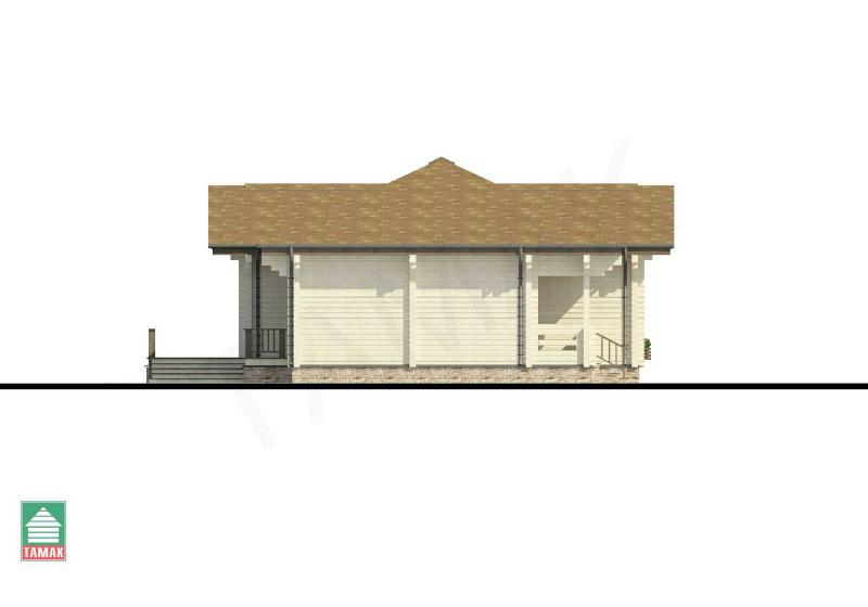 Проект дома из клееного бруса до 165 кв.м.