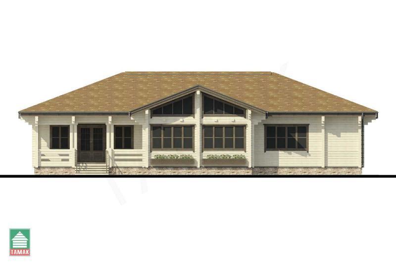 Проект дома из клееного бруса до 161 кв.м.