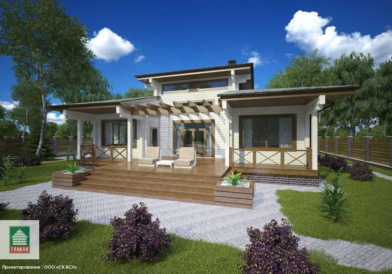 Проект дома из клееного бруса 145 кв.м.
