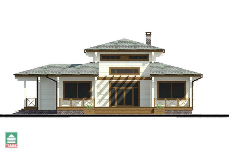 Проект дома из клееного бруса от 145 кв.м.