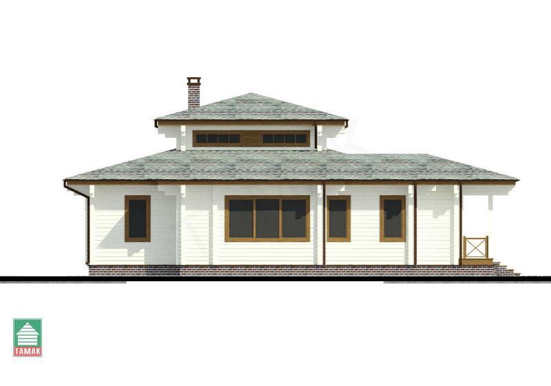 Проект дома из клееного бруса до 150 кв.м.