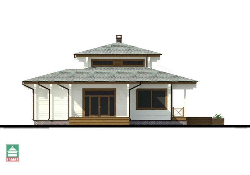 Проект дома из клееного бруса до 155 кв.м.
