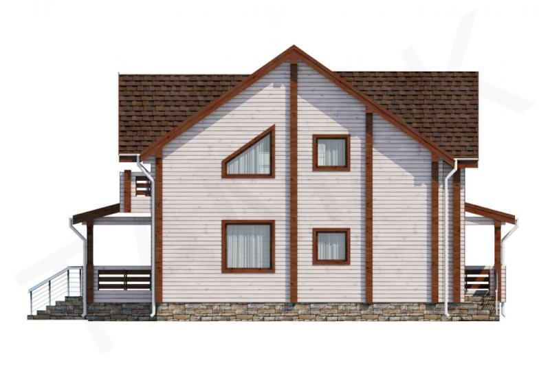 Проект дома из бруса от 190 кв.м