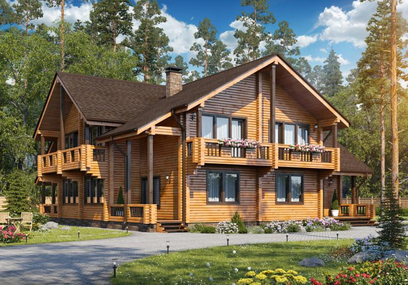 Проект дома из бруса 350 кв.м