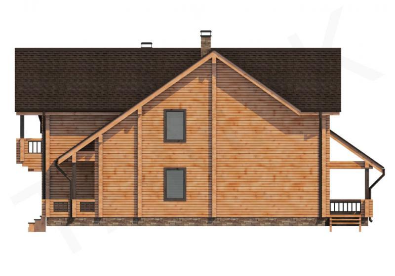Проект дома из бруса от 350 кв.м