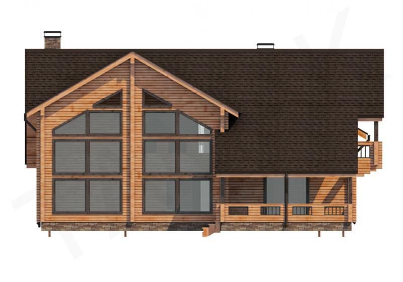 Проект дома из бруса до 350 кв.м