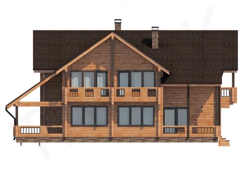 Проект дома из бруса до 360 кв.м