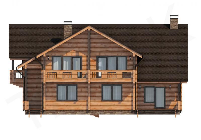 Проект дома из бруса до 355 кв.м