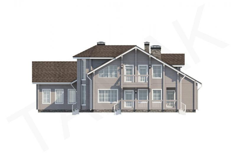 Проект дорогого дома от 490 кв.м.