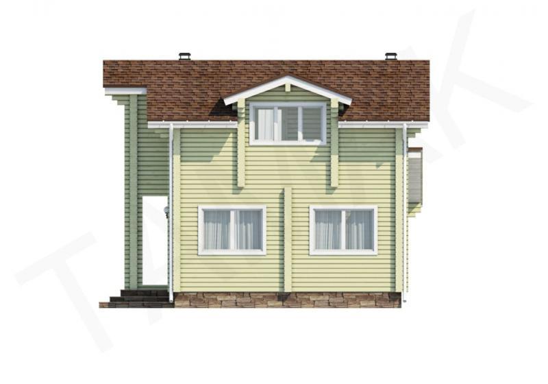 Проект дома из бруса от 130 кв.м