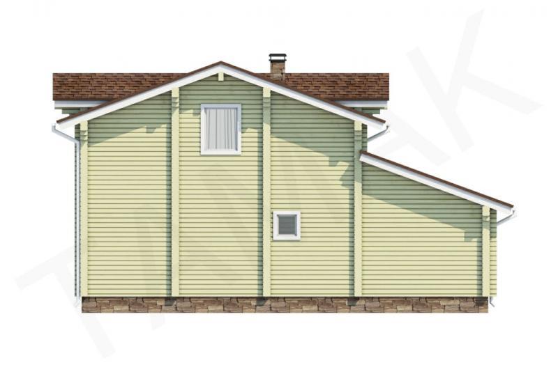 Проект дома из бруса до 130 кв.м