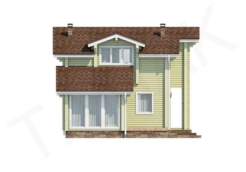 Проект дома из бруса до 140 кв.м
