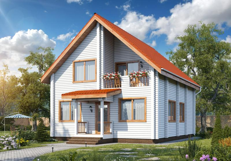 Проект дома из бруса 150 кв.м