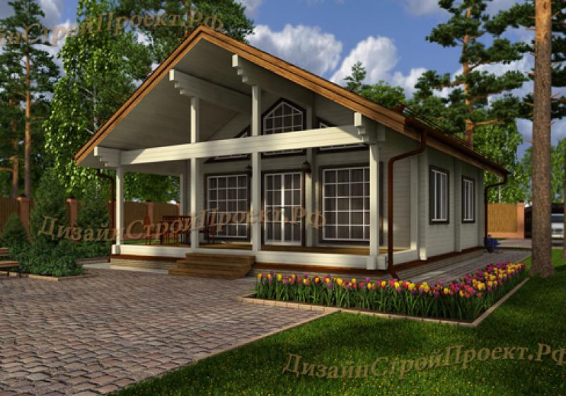 Проект дома из бруса до 99 кв.м.