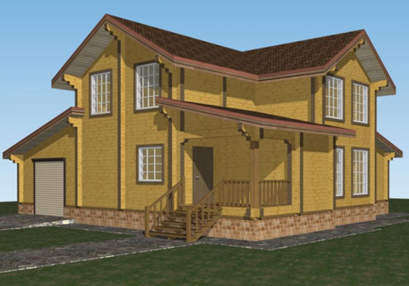 Проект дома из бруса 236 кв.м