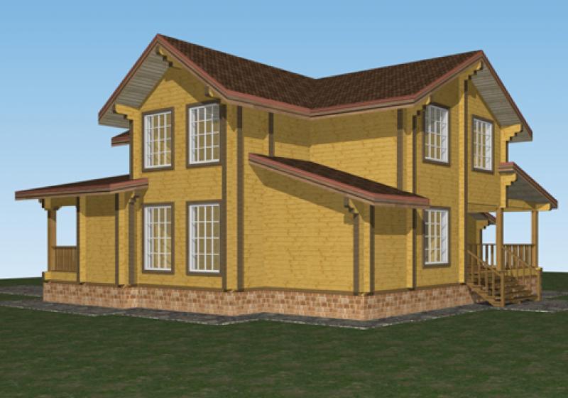 Проект дома из бруса до 240 кв.м