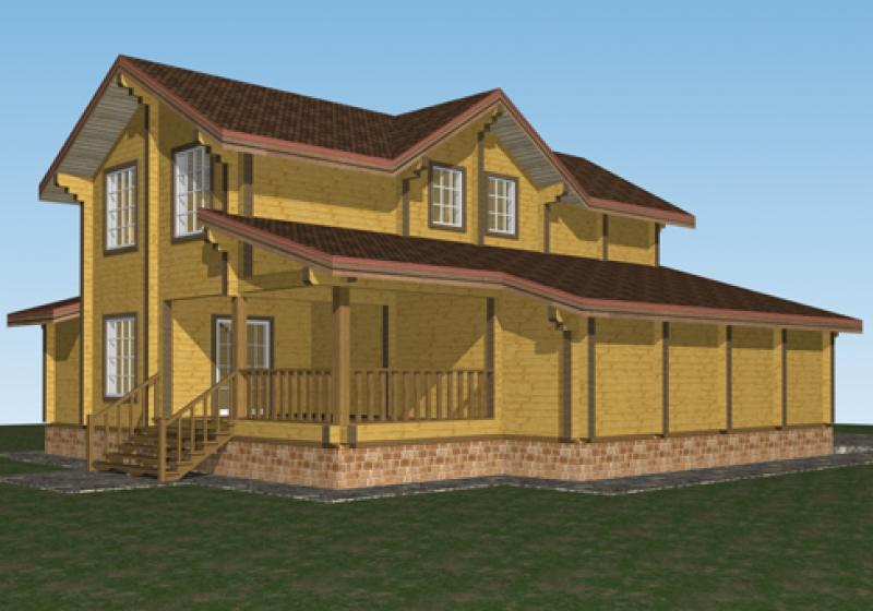 Проект дома из бруса до 250 кв.м