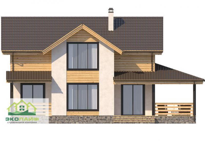Проект дома из блоков 155 кв.м